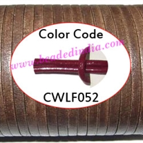 Leather Cords 4.0mm flat, regular color - cherry.