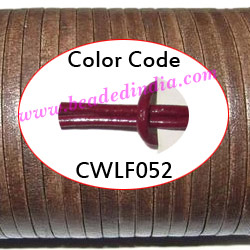 Leather Cords 2.0mm flat, regular color - cherry.