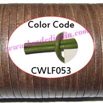 Leather Cords 1.5mm flat, regular color - matian green.