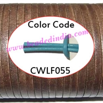Leather Cords 2.0mm flat, regular color - light turquoise.