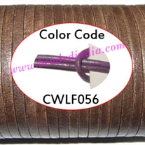 Leather Cords 1.5mm flat, regular color - lilac.