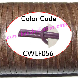 Leather Cords 3.0mm flat, regular color - lilac.