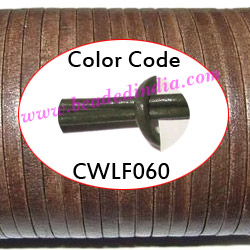 Leather Cords 2.0mm flat, regular color - military green.