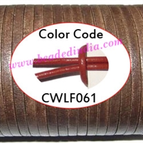 Leather Cords 3.0mm flat, regular color - rust.