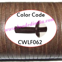 Leather Cords 2.5mm flat, regular color - chocolate.