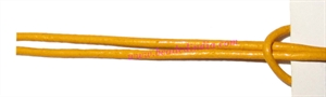 Leather Cords 1.5mm (one and half mm) round, regular color - yellow.