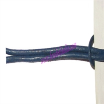 Leather Cords 1.5mm (one and half mm) round, regular color - blue.