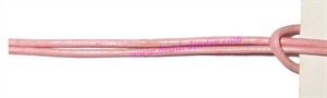 Leather Cords 2.5mm (two and half mm) round, regular color - baby pink.