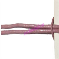 Leather Cords 1.5mm (one and half mm) round, regular color - pale purple.