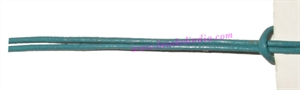 Leather Cords 1.5mm (one and half mm) round, regular color - turquoise.