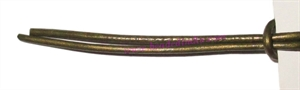 Leather Cords 1.5mm (one and half mm) round, metallic color - dark green.