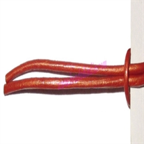 Leather Cords 1.5mm (one and half mm) round, metallic color - orange.