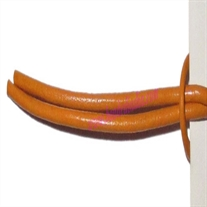 Leather Cords 0.5mm (half mm) round, regular color - marigold.