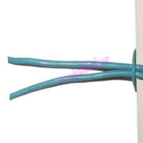 Leather Cords 1.5mm (one and half mm) round, regular color - light turquoise.