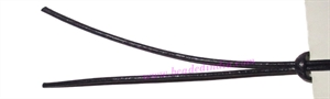 Leather Cords 6.0mm (six mm) round, regular color - light violet.