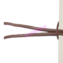 Leather Cords 0.5mm (half mm) round, regular color - camel.