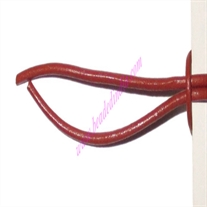 Leather Cords 2.5mm (two and half mm) round, regular color - rust.