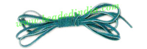 Flat Suede Leather Cords 5.0mm, Color - Dark Turquoise.