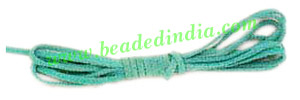 Flat Suede Leather Cords 4.0mm, Color - Light Turquoise.
