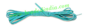 Flat Suede Leather Cords 5.0mm, Color - Mid Turquoise.