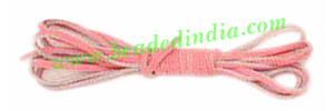 Flat Suede Leather Cords 3.5mm, Color - Pink.