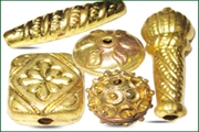 gold plated hollow metal beads