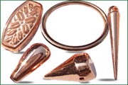 copper plated acrylic beads