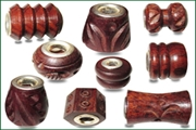 fine fancy wood beads