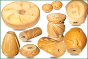 handmade natural wood beads