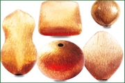 copper brushed beads