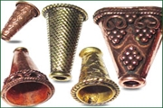copper metal cones
