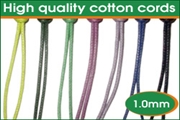high quality 1.0mm round cotton wax cords