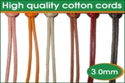 high quality 3.0mm round cotton wax cords