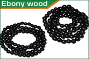 ebony black wood beads strings (mala)