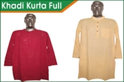 khadi kurta full sleeve for men