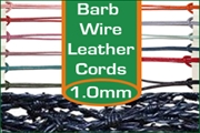 1.0mm barbed wire leather cords