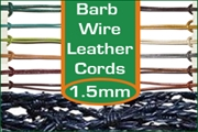 1.5mm barbed wire leather cords