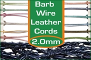 2.0mm barbed wire leather cords