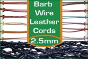 2.5mm barbed wire leather cords