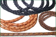 braided hunter leather cords