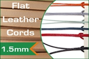 1.5mm flat leather cords