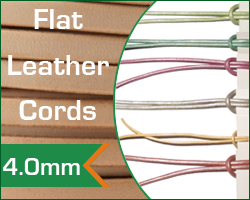 4.0mm flat leather cords