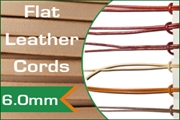 6.0mm flat leather cords