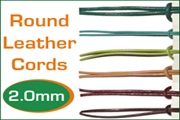 2.0mm (two mm) round leather cords