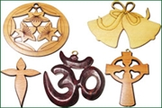 religious wood pendants