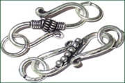 silver plated S hooks clasps