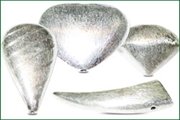 sterling silver .925 brushed beads