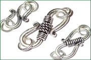 sterling silver S hooks clasps
