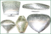 silver plated brushed beads