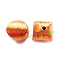 Copper Brushed Beads, size: 10x10x10mm, weight: 1.51 grams.